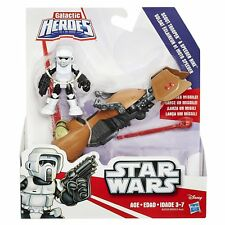 HASBRO Star wars GALACTIC HEROES Deluxe  Scout Trooper with speeder bike NEW MIP
