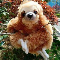 13.7'' Soft Stuffed Toy Teddy Plush Animal Three Toed Sloth Kids Xmas Gift