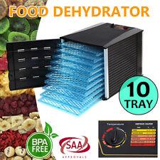 New 10 Tray Food Dehydrator Machine Dryer Maker Commercial Preserve Fruit Jerky