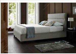 4FT6 Double Kaydian Chilton Mink Fabric Ottoman Storage Bed