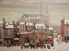 """Michel Delacroix """"Le Cathedral de Chartres"""" Original Lithograph"""