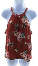 Riley & James Juniors Cinnamon Floral Sleeveless Top Casual Summer Size Small