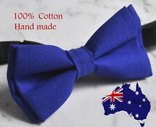 Boy Kids Baby 100% Cotton Royal Blue Indigo Bow Tie Bowtie Wedding 1-6 Years Old