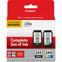 Genuine Canon Ink Cartridges PG-243 & CL-244 Bulk Package MG2522 TS3120 TS3122