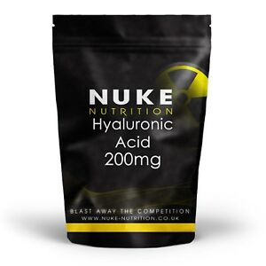 Hyaluronic Acid 200mg - High Strength Anti Aging Tablets Skin Care 120 Capsules