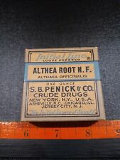Vintage Althea Root Crude Drugs Box With Contents.