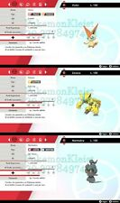 Victini, Marshadow, Zeraora 6IVs max pokemon Sword Sheld