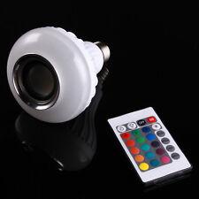 E27 LED light Wireless Bluetooth Audio Music Speaker Bulb Lamp White RBG Remote