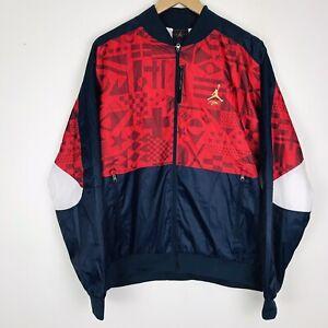 Nike Air Jordan Flight Legacy FIBA Jacket Red/White/Blue CJ9082-451 Men's Sz M