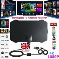 Antenne télévision numérique intérieure HDTV HD Antenne Freeview Signal ampli D1