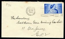 GREAT  BRITAIN: 1948 FDC Wedding 2 1/2d only, Plain cover, Paddington cds - used