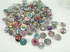 20X Mix Vintage assorted Ginger Snaps Charms Rhinestone Zircon Buttons #18mm