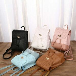 UK Women Girls Plain Mini Rucksack School Hand Bag Backpack Dual Purpose Handbag