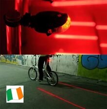 New 5 LED & 2 Laser Bike Light 7 Flash Mode Bicycle Tail Rear Waterproof