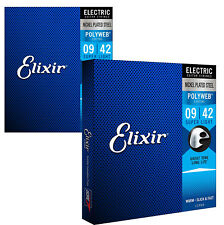 Elixir 12000 Polyweb Coated Electric Guitar Strings, Super Light, 09-42 (2 Pack)