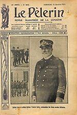 Portrait Admiral Amiral Augusto Aubry Italia Italo-Turkish War 1911 ILLUSTRATION