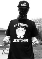 TILLIE BE STRONG!  JERSEY SHORE .. QUARAN-TEE SHIRT ..ASBURY PARK NJ NAVY COLOR