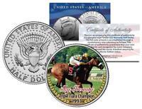 SKY BEAUTY *1993 Triple Tiara Champion* Racehorse Colorized JFK Half Dollar Coin