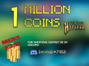 1 Million Hypixel Skyblock Coins   Fast & Safe