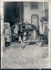 1949 Wire Photo Russians Leave Mission Headquarters US Sector Frankfurt Germany