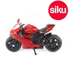 Siku 1385 Red Ducati Panigale 1299 Motorbike Scale model toy Working steering