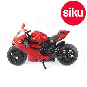 Siku 1385 Red Ducati Panigale 1299 Motorbike Scale model toy Working steering