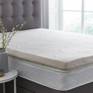 Silentnight Impress Luxury 7cm Deep Memory Foam Mattress Topper in 4 Sizes