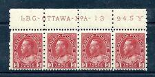 #184 Plate imprint No. A-13 945Y F MNH Cat $90+  Canada mint
