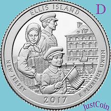 2017-D ELLIS ISLAND / STATUE OF LIBERTY (NJ) QUARTER UNCIRCULATED