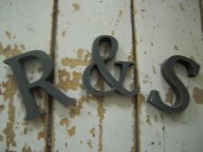 3 X  SHABBY CHIC  SLATE GREY WOODEN LETTERS A-Z INITIALS  LETTERS 8cm