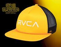 New RVCA Foamy Mens Yellow Black Mesh Snapback Trucker Cap Hat