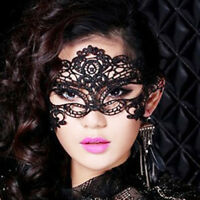 Cozy Feel Sexy Women Black Lace Eye Face Mask Masquerade Party Halloween Prom