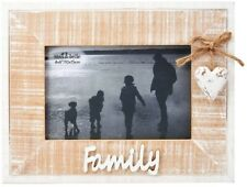 Natural Rustic White Washed Family Heart Picture Photo Frames Landscape
