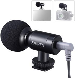 On-Camera Microphone, Mini Vlog Mic for Canon/Nikon/Sony Camera,DSLR,Gopro,Camco