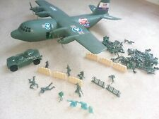 """C130 Hercules Military Airlift Command Bomber Toy Airplane 26"""" Tank Army Men"""