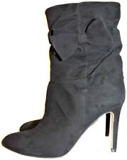 $550 Kate Spade  Black Nod Ruched Suede Mid-Calf Boots Boots Bootie Shoe 7- 37