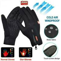 Mens Womens Winter Warm Gloves Windproof Waterproof Thermal Touch-Screen Mitten