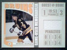 RAY BOURQUE   AUTHENTIC PIECE OF A BOSTON BRUINS GAME-USED JERSEY /70   SP
