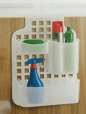 Blue Canyon White Plastic Kitchen Bathoom Cabinet cupboard Door Organiser Caddy