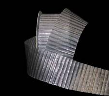 "5 Yards Silver Accordian Metallic Ribbon 1 1/2""W"
