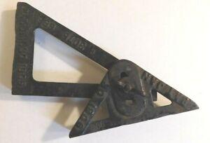 Antique Vintage Cast Iron Industrial Machine Age Tool Pat Jan 1906 bracket angle