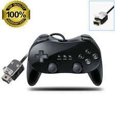 Black Pro Classic Game PAD Controller Remote for Nintendo Wii CONSOLE