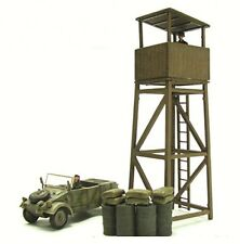 Blitz72 1:72 diorama set German Kubelwagen and Watch Tower w/Soldiers