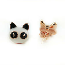 Fashion Jewelry - 18k Rose Gold Plated Panda Stud Earrings (FE427)