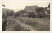 Monghegan ME Road scene c1920 Real Photo Postcard