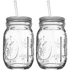 REDNECK SIPPER SET 16oz Mason Jar w Lid and Acrylic Straw Funny Cocktail 2 Pack