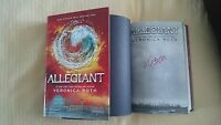 Veronica Roth Allegiant Book Divergent Series #3 Signed 1/1 HC DJ Insurgent New