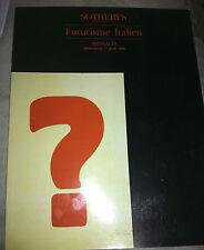 Italian Futurism, avant garde, Sotheby's auction catalog 1990, design