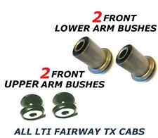 FOR LTI TAXI CAB TX1 TX2 2 FRONT 2 LOWER 2 UPPER SUSPENSION WISHBONE 4 BUSHES