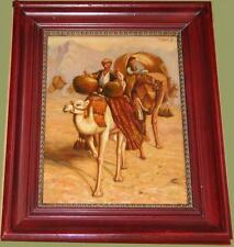 Par les déserts, peinture orientale jolie+cadre bois!